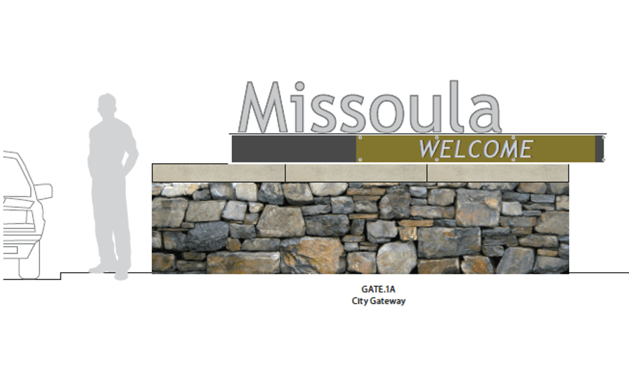 Welcome to Missoula Gateway signage