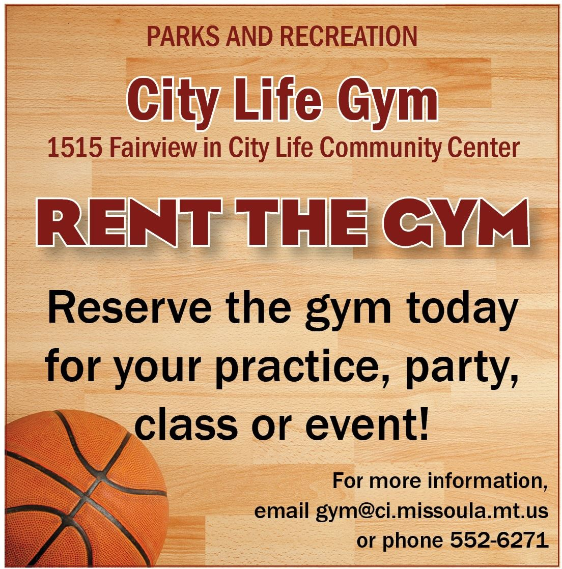 Rent The Gym ad