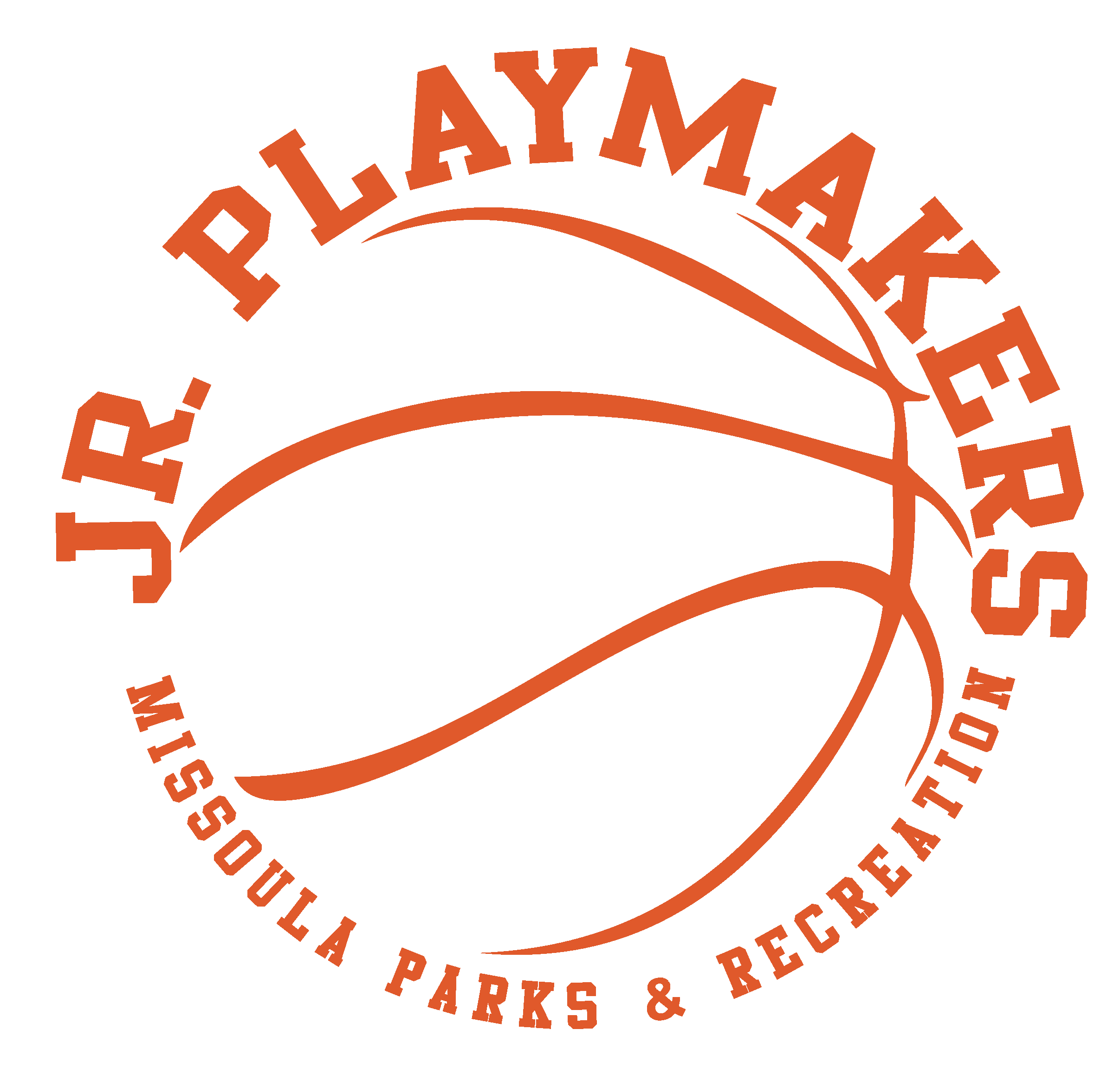 Jr Playmakers Youth Basketball orange